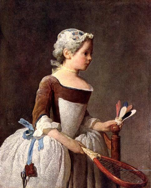 Girl with Racket and Shuttlecock, c.1740 - Jean-Baptiste-Simeon Chardin