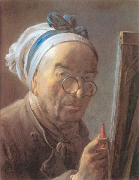 Self-Portrait with an Easel, 1779 - Jean-Baptiste-Simeon Chardin