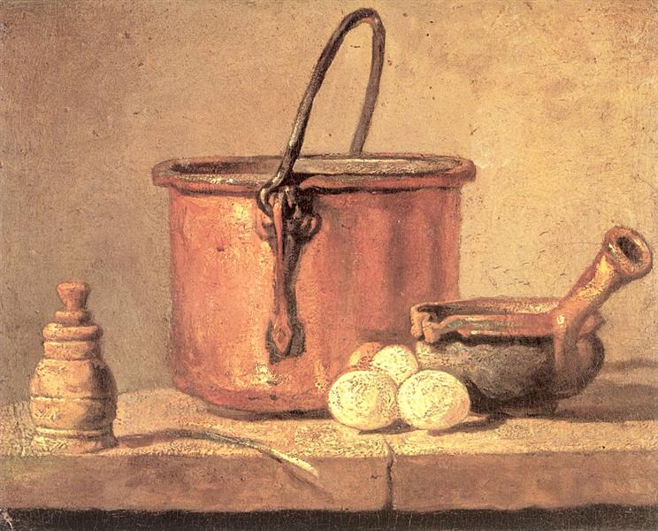 Still Life Of Cooking Utensils Cauldron Casserole And