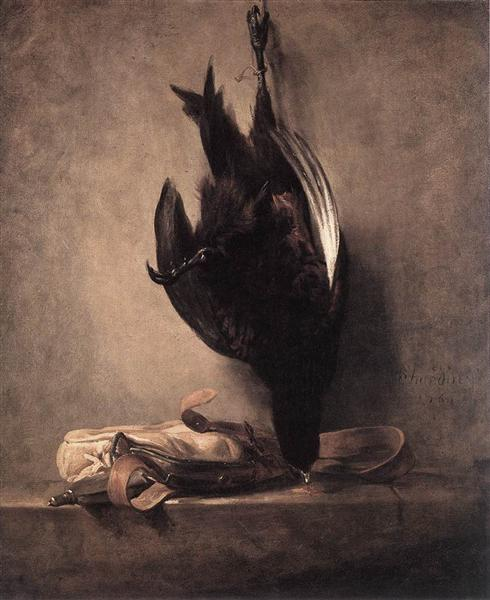 Still Life with Dead Pheasant and Hunting Bag, 1760 - Jean-Baptiste-Simeon Chardin