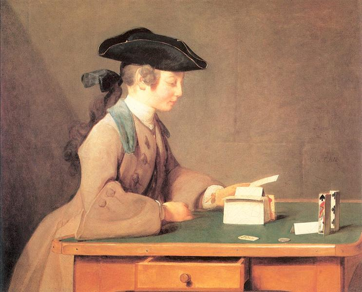 The House of Cards, 1736 - 1737 - Jean-Baptiste-Simeon Chardin