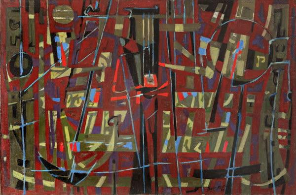 Instrument de la passion, 1957 - Jean Bertholle