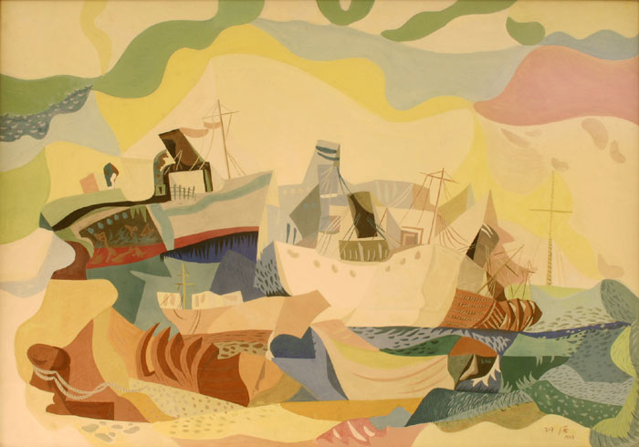 Boats of Jewish Immigrants (Hamaapilim), 1948 - Jean David