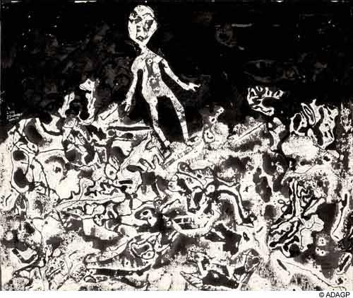 Traveler in rich soil, 1954 - Jean Dubuffet