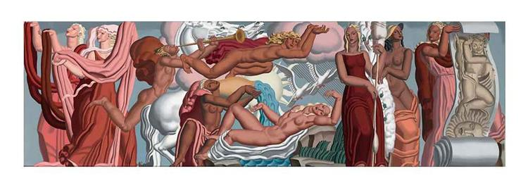 Allegorie du Tissu, 1937 - Jean Dupas