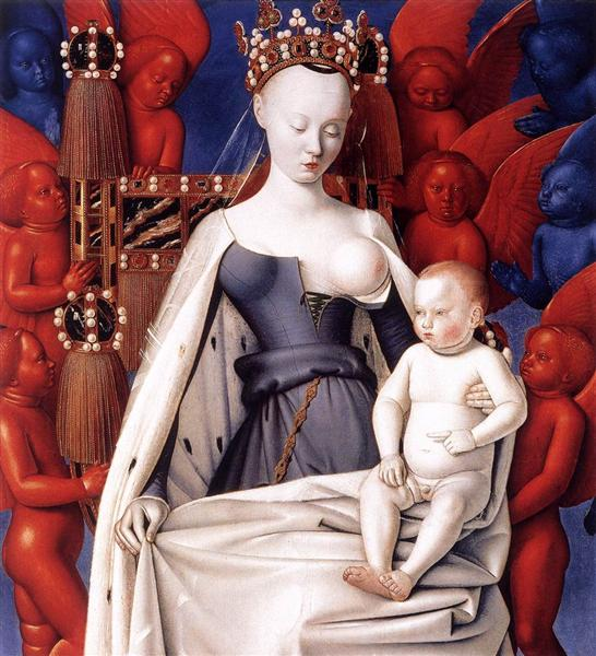 Madonna and Child. Left Panel of Diptych de Melun, c.1450 - Jean Fouquet