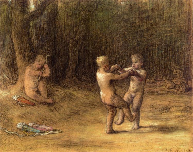 Amour's dance, c.1860 - Jean-François Millet