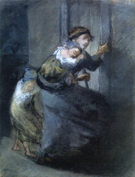 Mother and Two Infants - Jean-Francois Millet