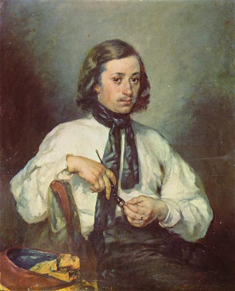 Portrait of Armand Ono, c.1843 - Jean-Francois Millet