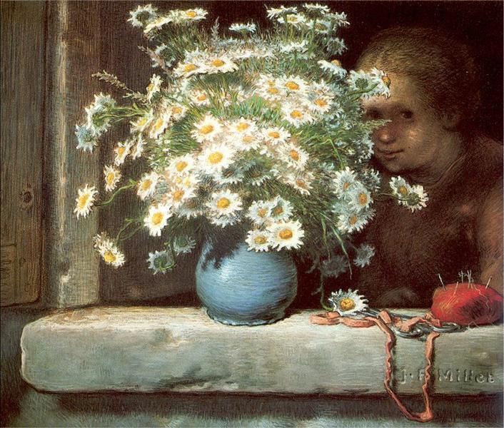 The Bouquet of Margueritas, 1866 - Jean-Francois Millet