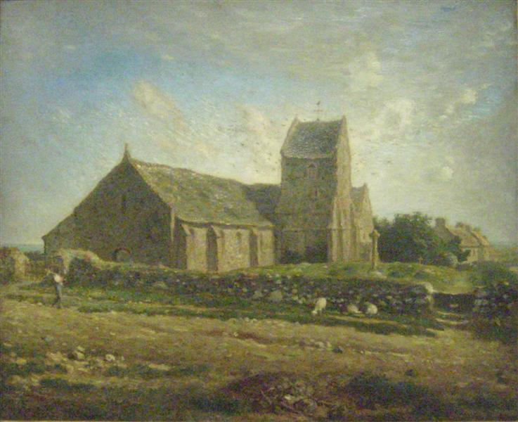 The Church of Greville - Jean-Francois Millet