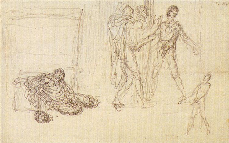 The Drunkeness Of Noah - Jean-Francois Millet