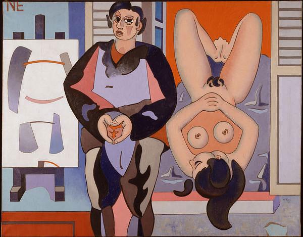 A rebours, 1947 - Jean Hélion