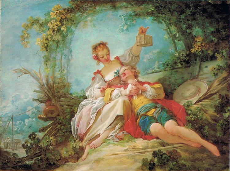 The Happy Lovers, 1760 - 1765 - Jean-Honoré Fragonard