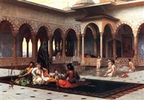 The Terrace of the Seraglio - Jean-Léon Gérôme