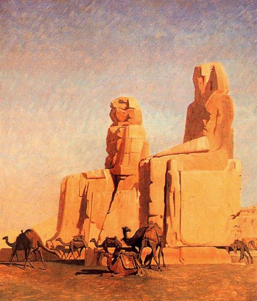 Thebes Colosseums, Memnon and Sesostris (study), 1856 - Jean-Leon Gerome