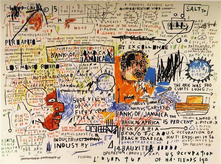 50 cent Piece, 1983 - Jean-Michel Basquiat