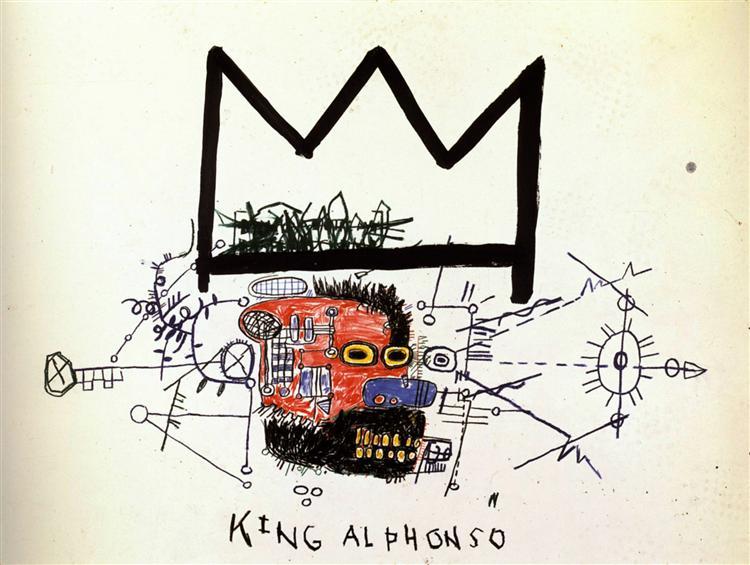 King Alphonso, 1983 - Jean-Michel Basquiat