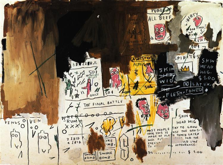 Skin Head Wig, 1983 - Jean-Michel Basquiat