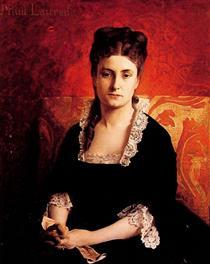 Porträtt av en kvinna - Jean-Paul Laurens