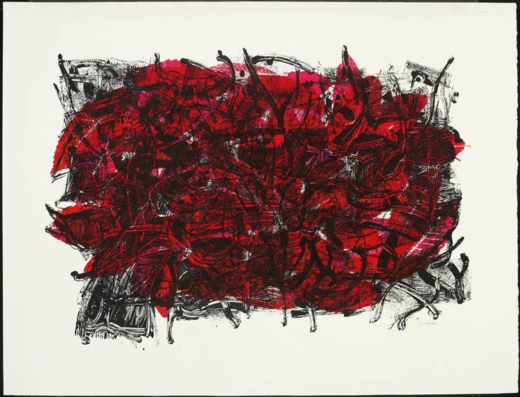 Leaves III 1967 - Jean-Paul Riopelle