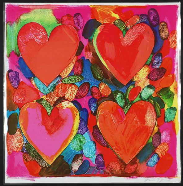 Four Hearts - Jim Dine