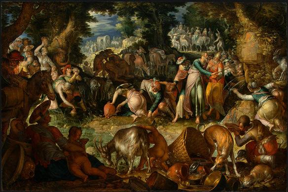 Moses Striking the Rock, 1624 - Joachim Wtewael