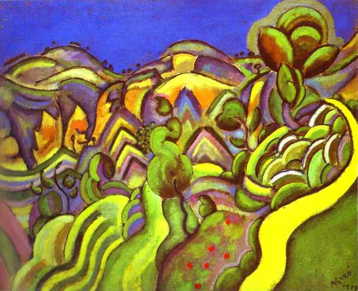 Ciurana  the Path - Joan Miro Joan Miro Fauvism