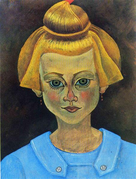 Portrait of a Young Girl, c.1915 - Joan Miro