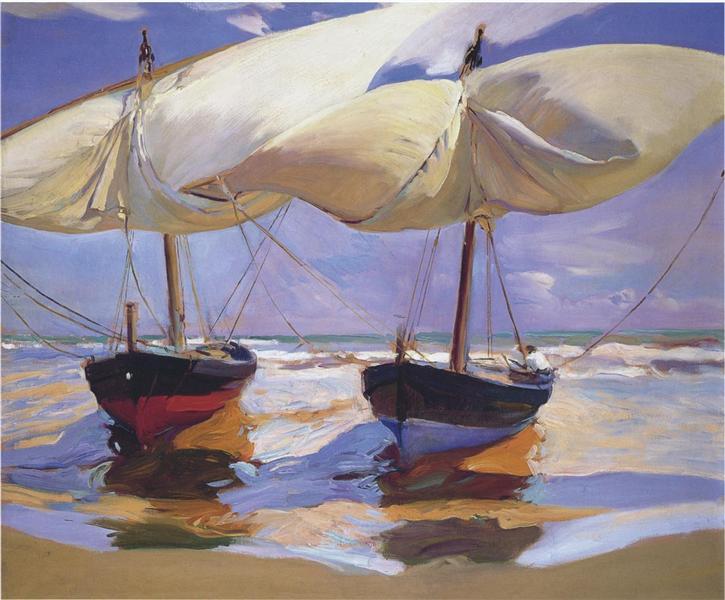 Beached Boats, 1915 - Joaquín Sorolla