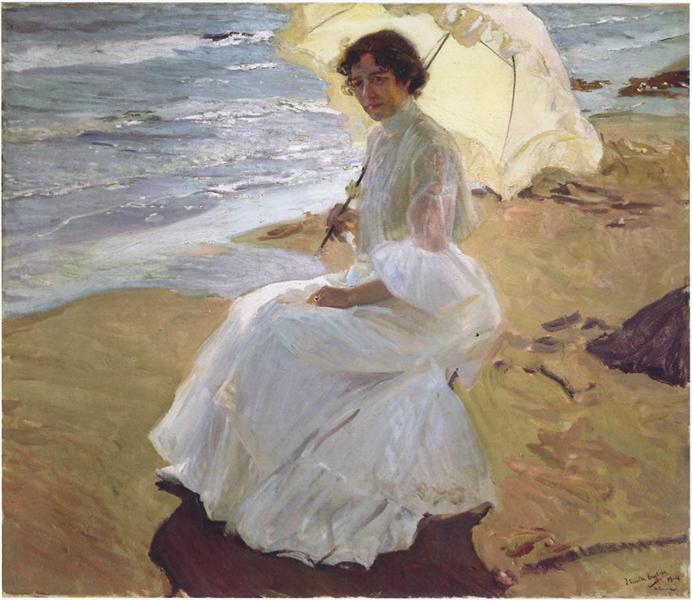 Clothilde at the Beach, 1904 - Joaquín Sorolla