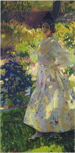 Maria dressed as a Valencian peasant girl - Joaquin Sorolla