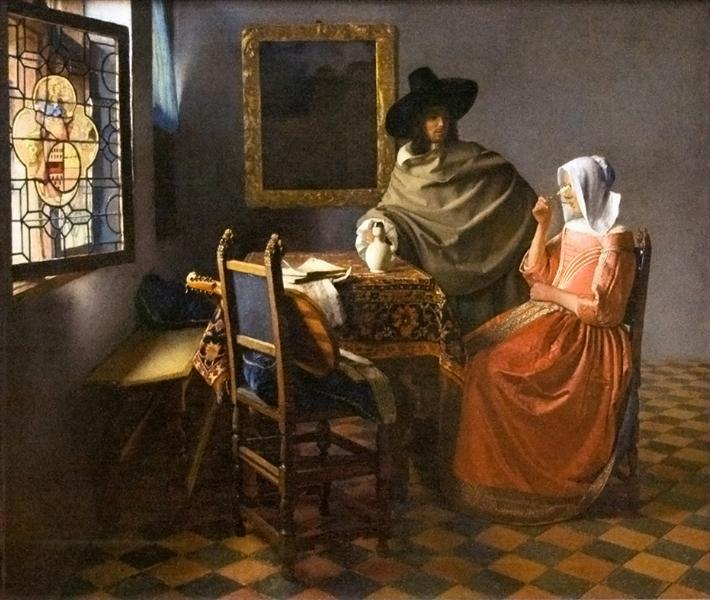 The glass of wine, c.1658 - c.1660 - Johannes Vermeer