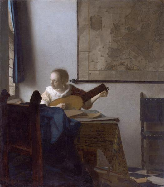 Woman with a lute, c.1662 - c.1664 - Johannes Vermeer
