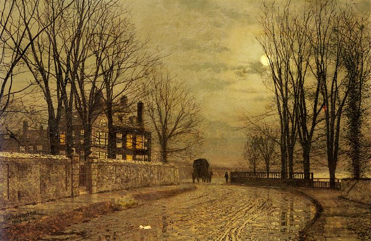 The Turn of the Road - John Atkinson Grimshaw