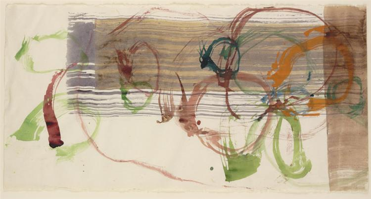 New River Watercolor, Series I, No. 3, 1988 - John Cage