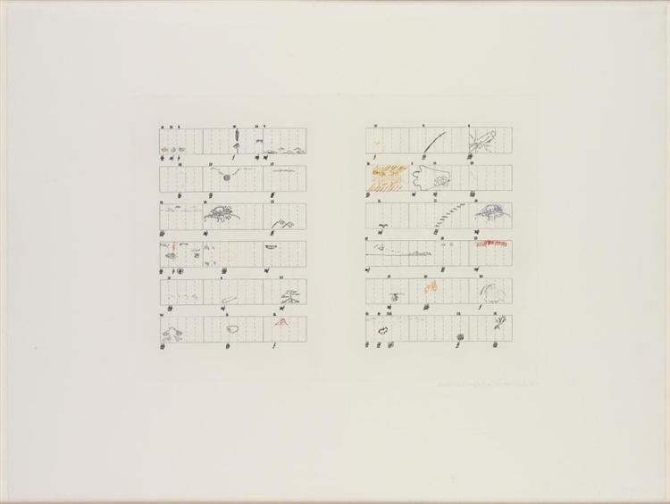 Score Without Parts (40 Drawings by Thoreau)/Twelve Haiku, 1978 - John Cage