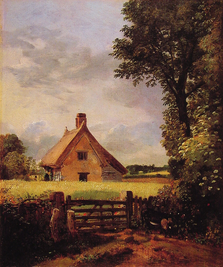 A Cottage In A Cornfield 1817 John Constable Wikiart Org
