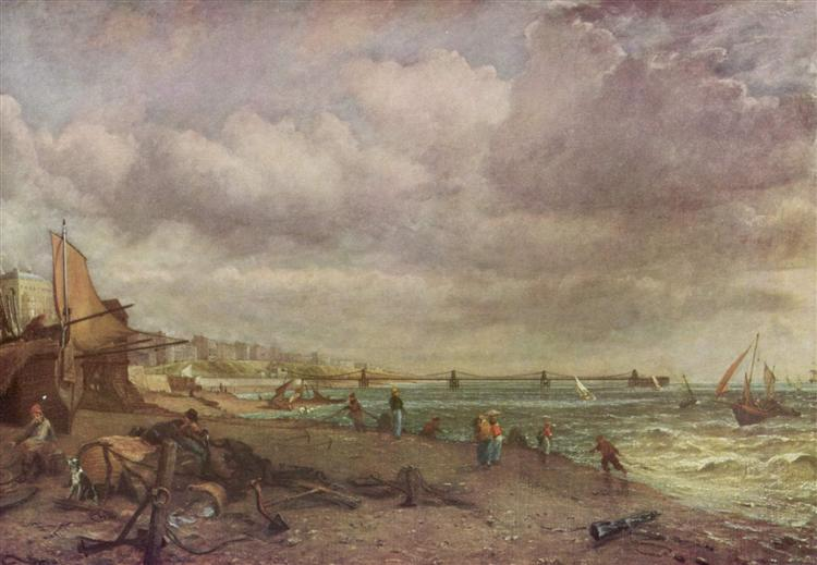 Marine Parade and Old Chain Pier, 1827 - John Constable