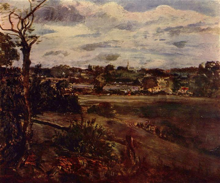 View of Highgate from Hampstead Heath, c.1834 - John Constable