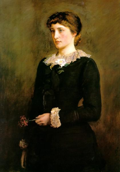 A Jersey Lily, Portrait of Lillie Langtry, 1878 - John Everett Millais