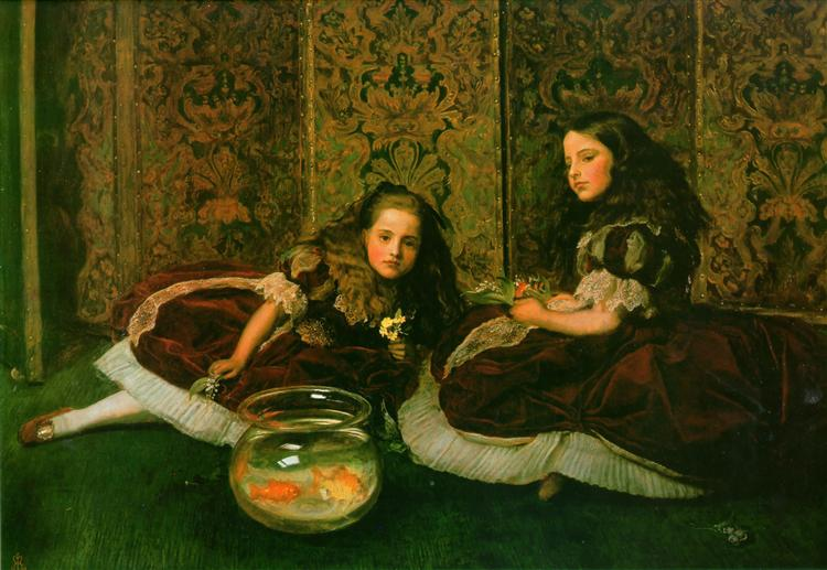 Leisure Hours, 1864 - John Everett Millais