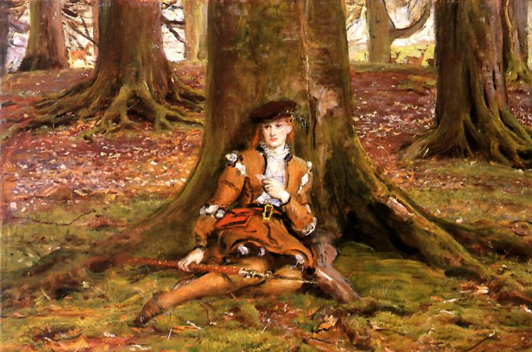 Rosalind In The Forest - John Everett Millais