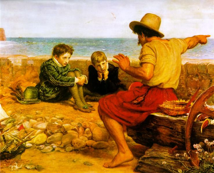 The Boyhood of Raleigh, 1870 - Джон Эверетт Милле