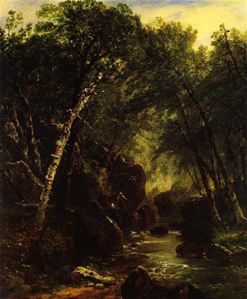 Trout Fisherman, 1852 - John Frederick Kensett