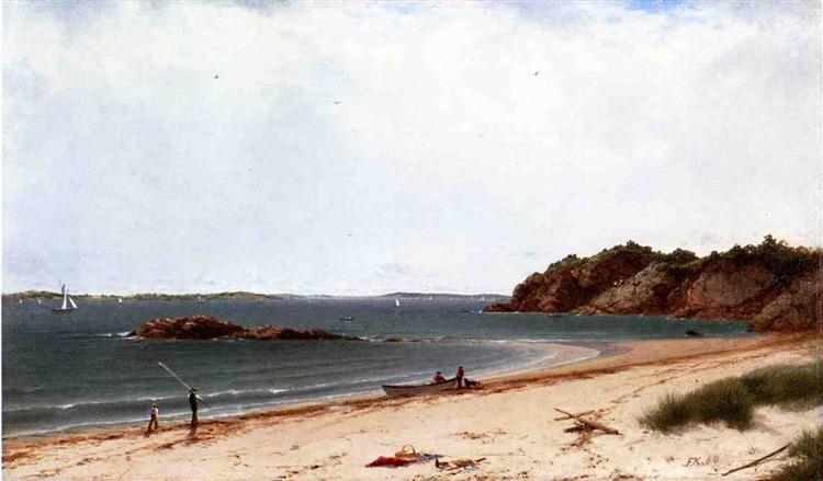View of the Beach at Beverly, Massachusetts, 1860 - John Frederick Kensett