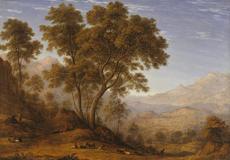My last view of Italy, looking from the alps over Suza, 1835 - John Glover