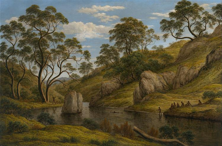 The bath of Diana, Van Diemen's Land, 1837 - John Glover