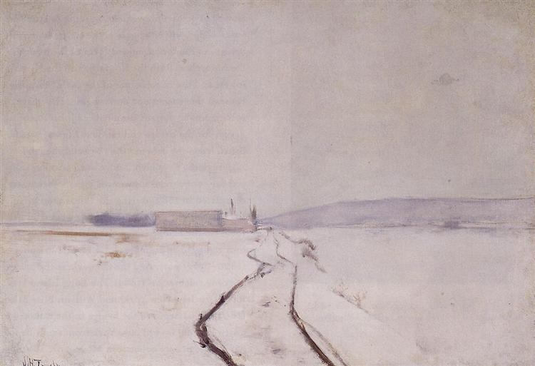 Along the River, Winter, c.1887 - c.1888 - John Henry Twachtman