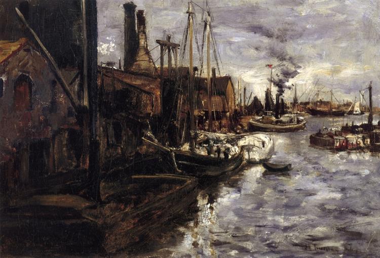 End of the Pier, New York Harbor, 1879 - John Henry Twachtman